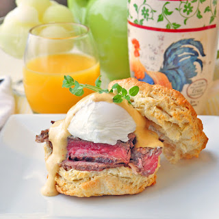 Steak and Eggs Benedict with Brown Butter Sriracha Hollandaise Sauce Recipe