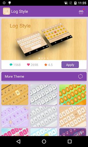 Emoji Keyboard-Log Style