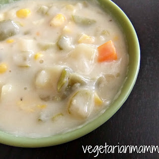 Corn Chowder – #glutenfree #vegan.