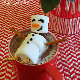 Hot Chocolate Marshmallow Snowman Topper.