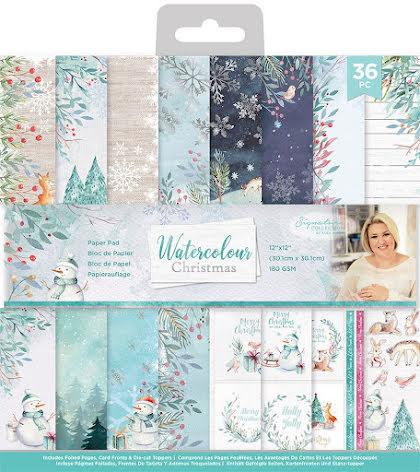 Sara Davies 12x12 Paper Pad - Watercolour Christmas
