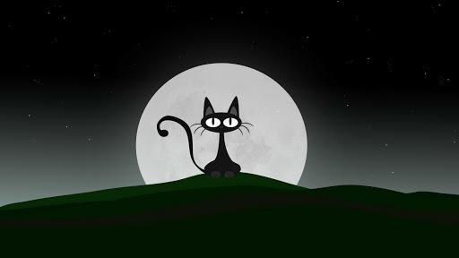 Cat Moon Live Wallpaper