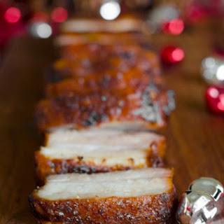 Crispy Asian Pork Belly.