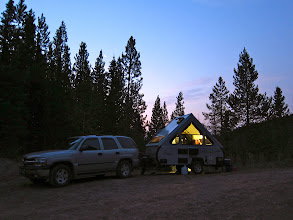 Photo: Our camping spot at the trailhead (photo by Mark Smith)