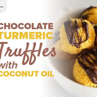 Chocolate Turmeric Truffles With Coconut Oil.