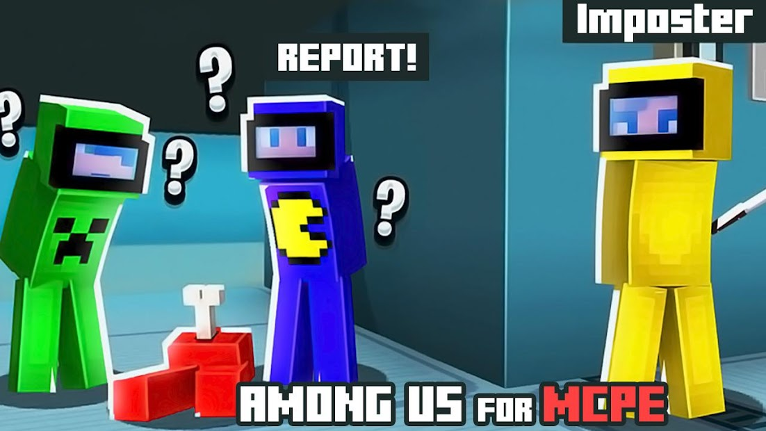 Maps of Among Us for Minecraft PE Android App Screenshot