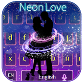 Romantic Neon Love Couple Keyboard Android APK Download Free By Super Cool Android Themes