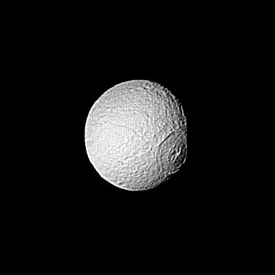 Saturn - Large Crater on Tethys