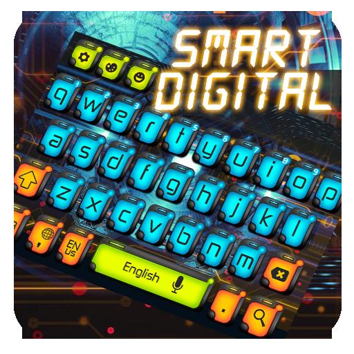 Smart  Digital Keyboard Theme