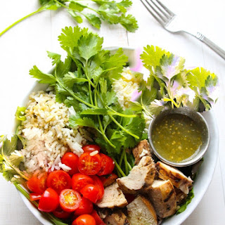 7-Ingredient Salsa Verde Grilled Chicken Salad.