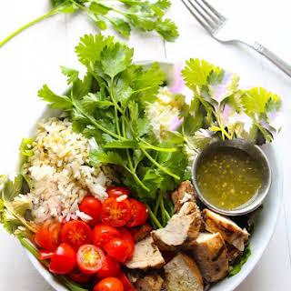 7-Ingredient Salsa Verde Grilled Chicken Salad..