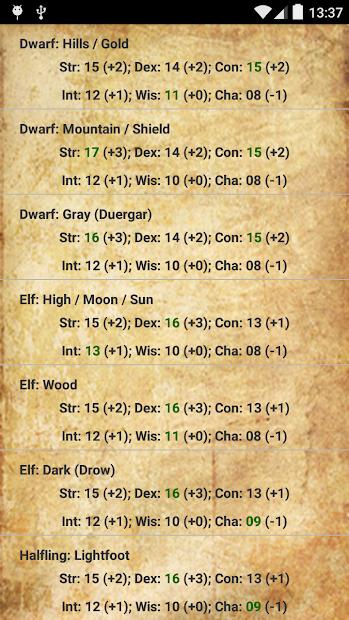 D&D Score Calculator (5E) on Google Play Reviews | Stats