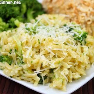 Cheesy Broccoli Orzo Recipe
