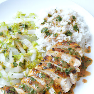 Grilled Curry Ginger Chicken with Creamy Sriracha Sauce Recipe