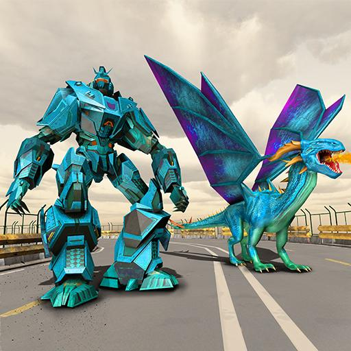Dragon Robot Transform Game – Mech Robots Battle
