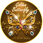 Luxurious Golden Butterfly Icon