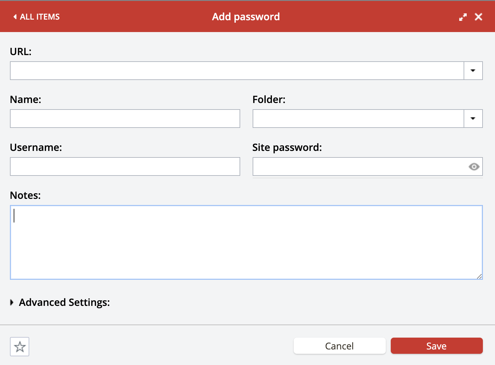 Form to add a new password to LastPass password manager, shown in Chrome browser. Part of the article by Hana Clode Marketing 'LastPass Password Manager - Apps to Make Your Life Easier'.
