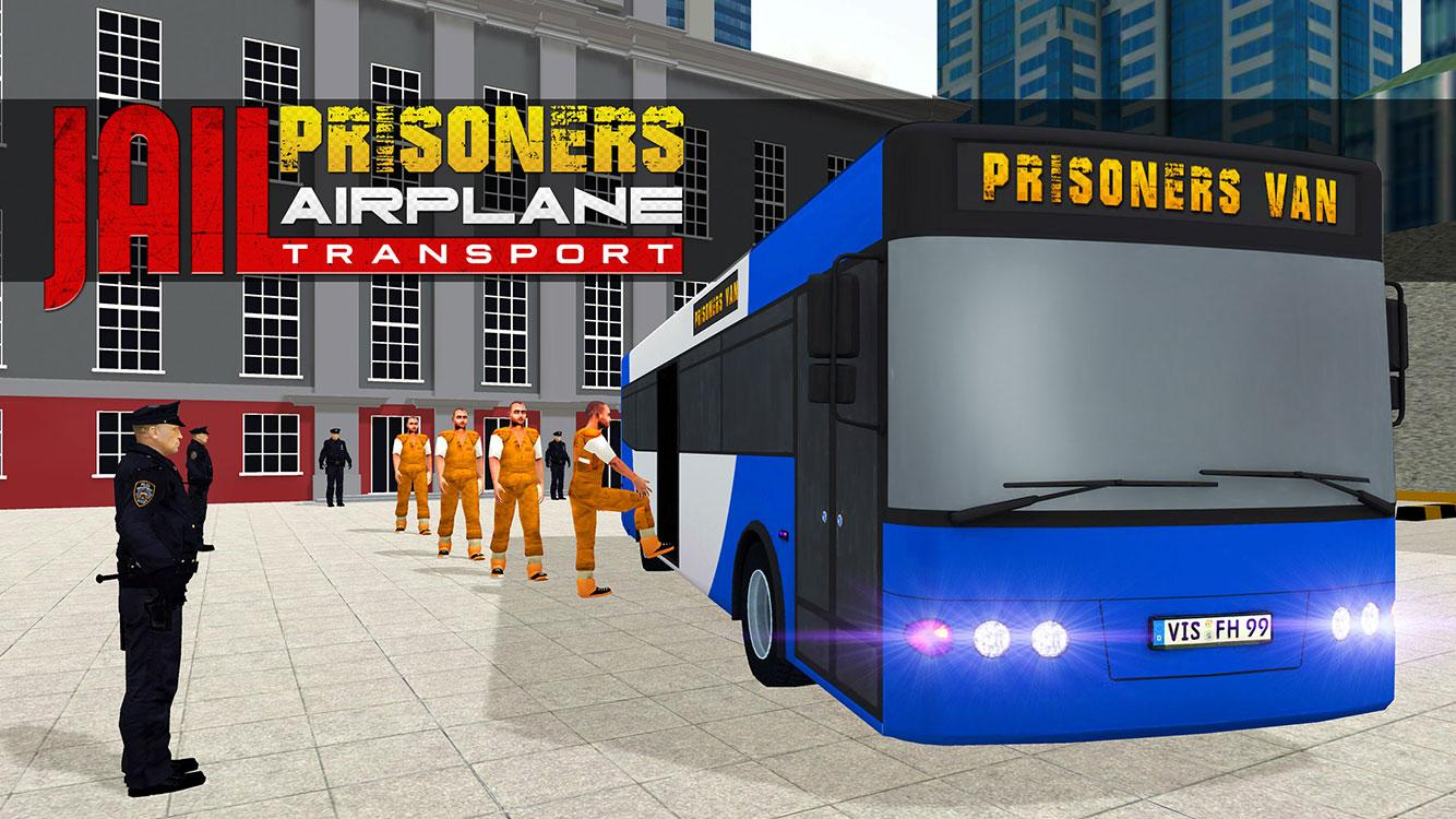 Jail Criminals Transport Plane- screenshot