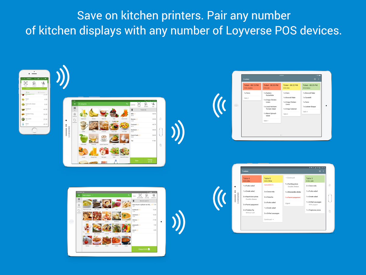 Restaurant Kitchen Order Display loyverse kds - kitchen display (ordering system) - android apps on