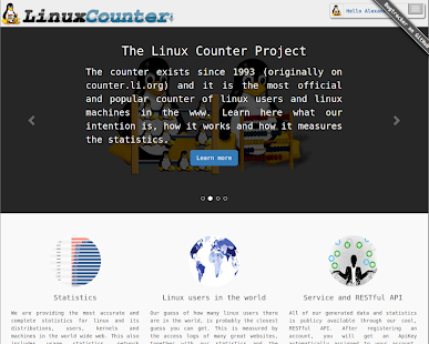 The Linux Counter Project- screenshot thumbnail