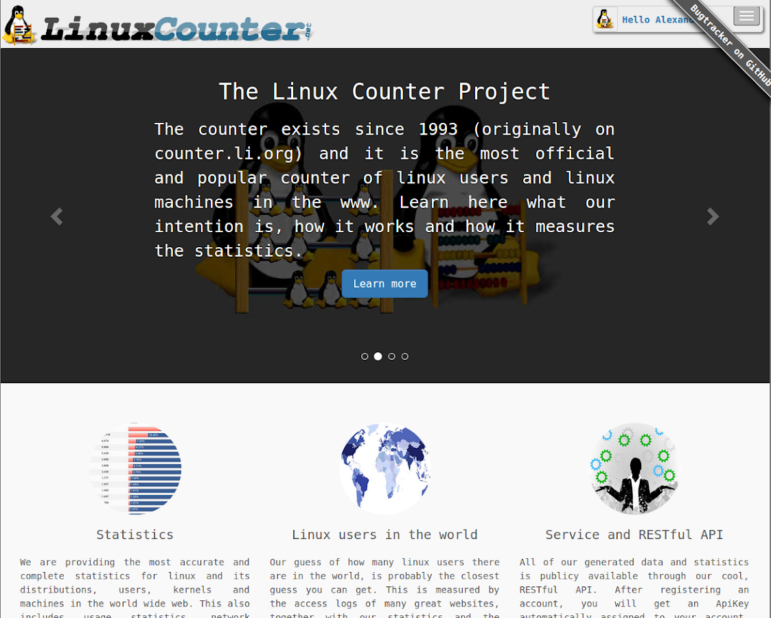 The Linux Counter Project- screenshot