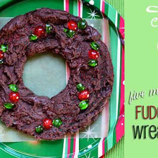 Five Minute Fudge Wreath