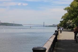 Photo: The George Washington Bridge, seen from Riverside Park