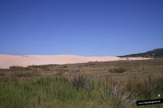 Photo: La duna móvil en el Parque Natural de Corrubedo