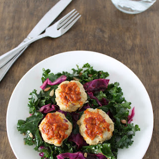Chicken Meatballs with Kale Slaw