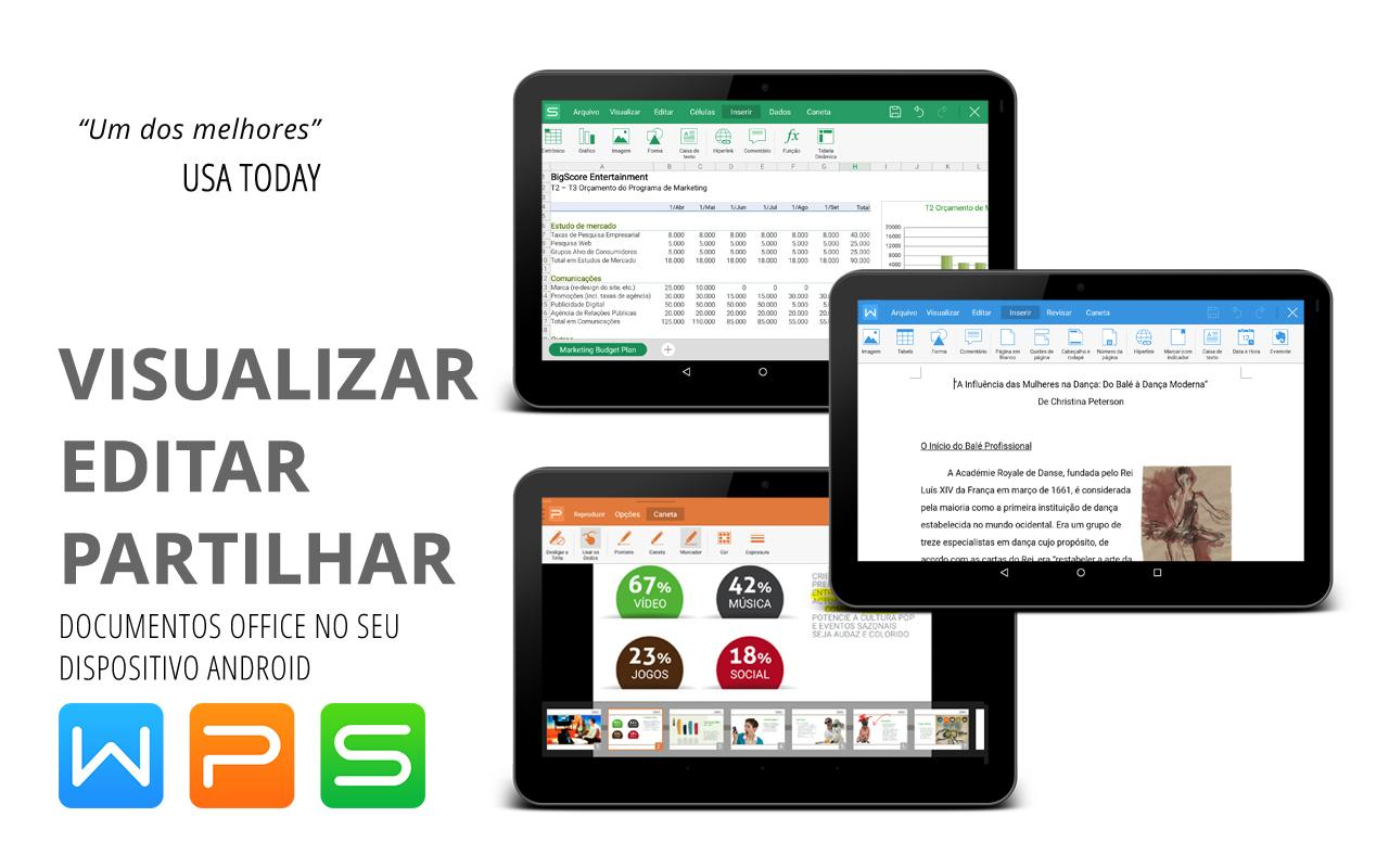 WPS Office - Word, Docs, PDF, Note, Slide & Sheet: captura de tela