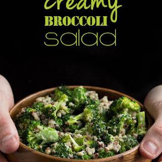 Creamy Vegan Broccoli & Quinoa Salad.