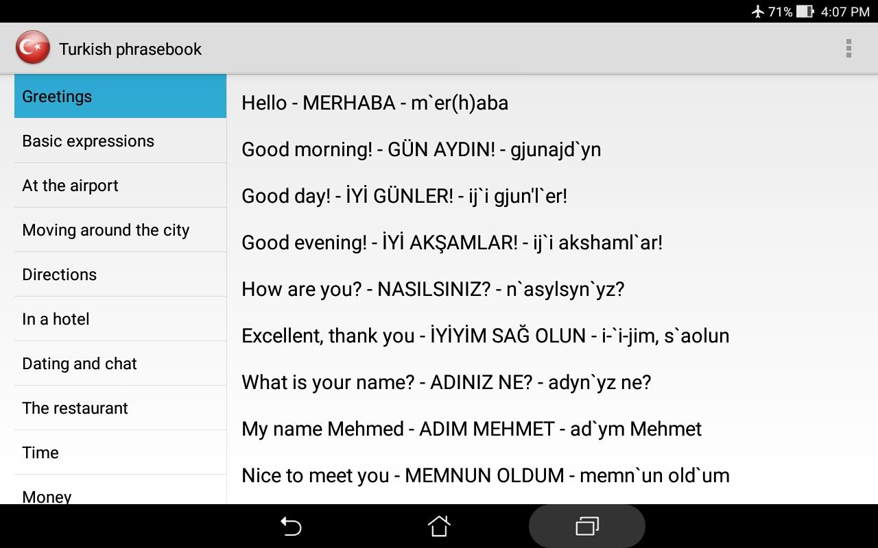 Turkish phrasebook android apps on google play turkish phrasebook screenshot kristyandbryce Gallery
