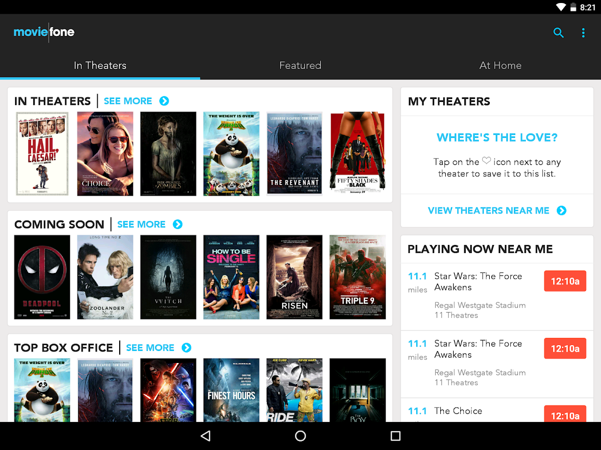 Moviefone - Movies, Trailers, Showtimes & Tickets– снимак екрана