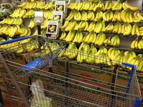 Photo: wide selection of bananas... we got a bunch.