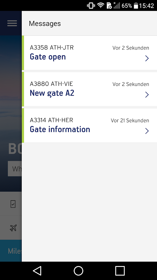 Aegean Airlines- screenshot