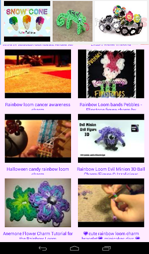 New designs for rainbow loom