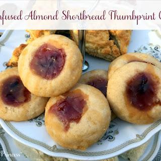 Tea Infused Almond Shortbread Thumbprint Cookies
