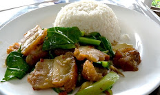 Pad Kana Over Rice