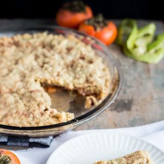 Easy Persimmon Apple Oat Crumble Pie