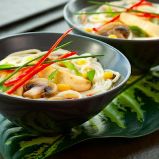 Slow-Cooked Chicken and Soba Noodle Soup.