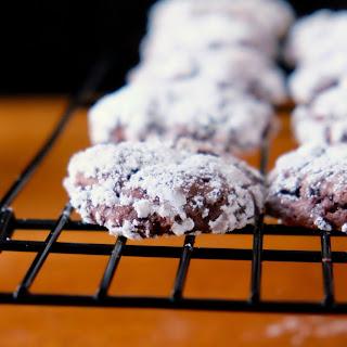 Chocolate Beet Crinkle Cookies