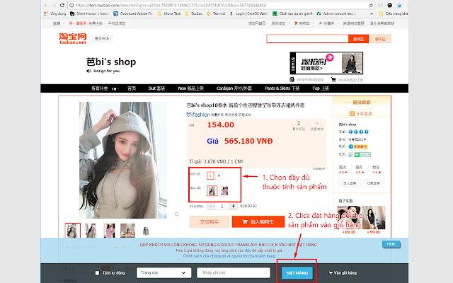 Công Cụ Đặt Hàng Của Daily Taobao
