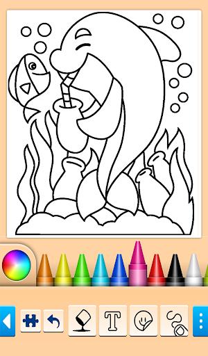 Dolphin and fish coloring book 14.0.4 screenshots 4