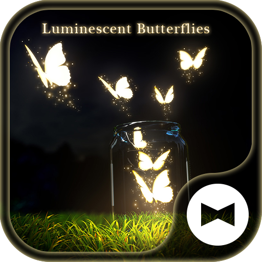 Fantasy Wallpaper Luminescent Butterflies Theme Icon