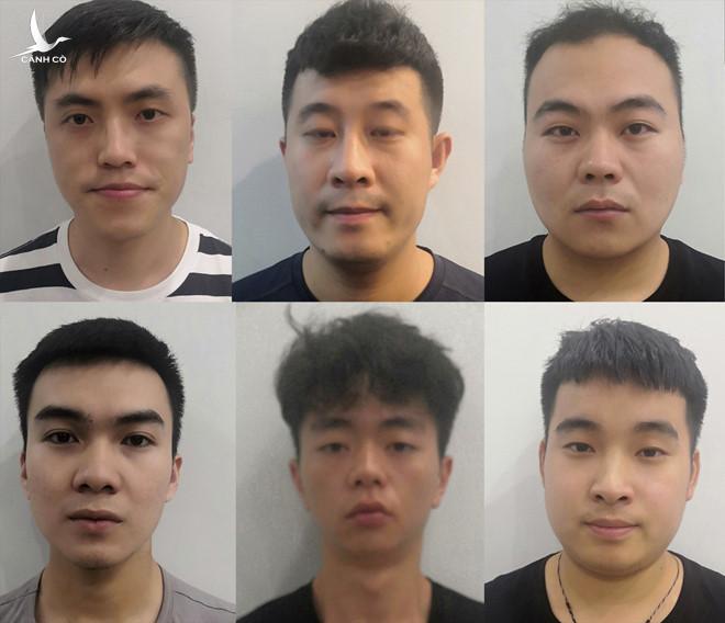 Những người Trung Quốc trong đường dây cho vay nặng lãi. Ảnh: Công an cung cấp.
