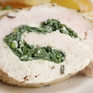 1. Spinach and Cheese Pork Roll