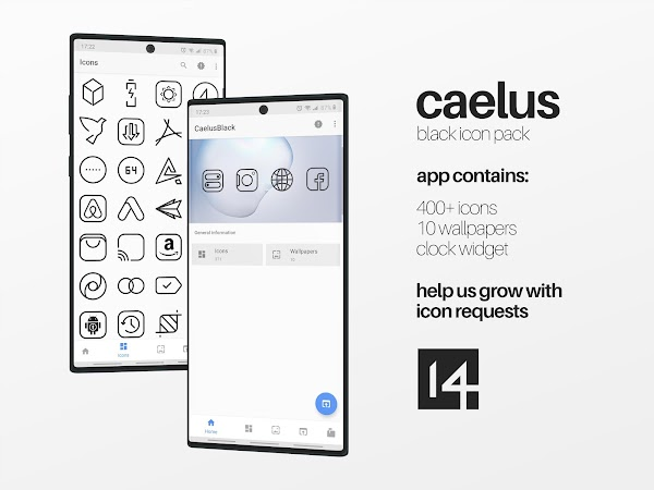 Download APK: Caelus Black – Icon Pack v1.4 [Patched]