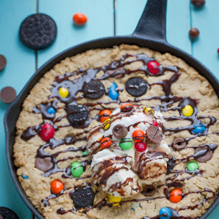 Candy Oreo Monster Skillet Cookie Pizza