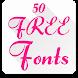 Fonts for FlipFont 50 #6
