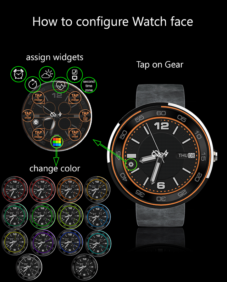 ColorRings Watch Face